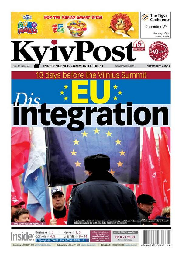 Disintegration. The unraveling of Ukraine's ambitions to forge clospol/econ ties with EU