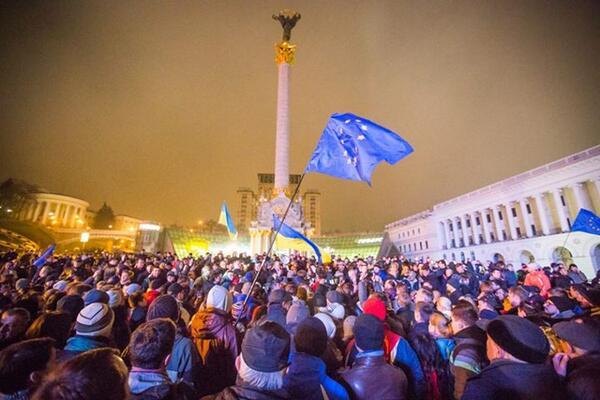 Rally on Maidan Nezalezhnosti in Kyiv