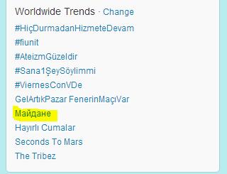 Maidan hit twitter worldwide trends