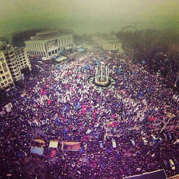 Rally in Kyiv on Europeyska square