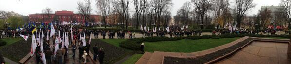 Mass pro-EU rally in Kyiv, Ukraine