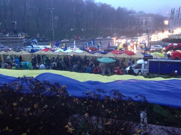 Morning in the camp at Maidan