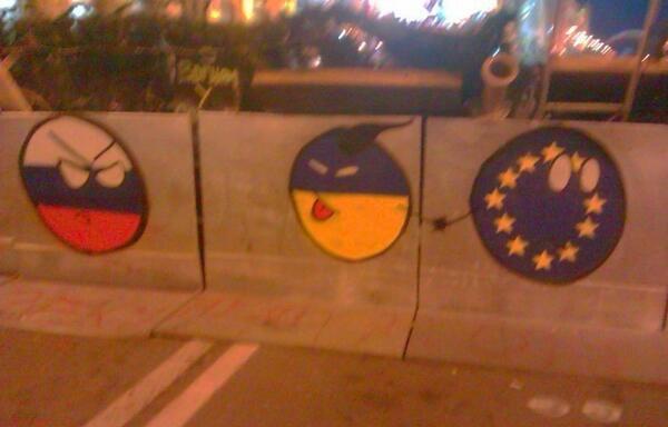 Painting at Euromaidan