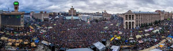 Rally on Maidan. A lot of people