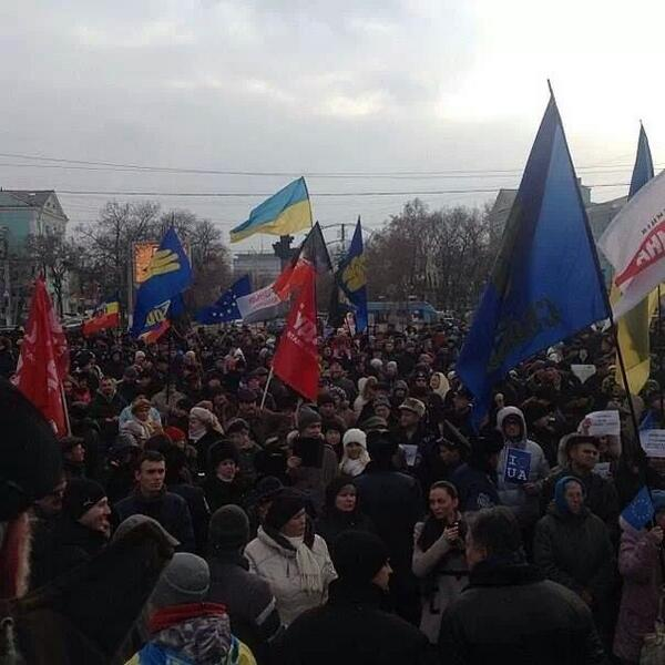 3000 people support euromaidan in Lugansk