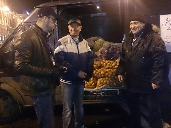 A ton of meat and vegetables farmers of the Donetsk region gave to Euromaidan