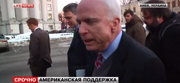 Senator John McCain arrived in Kyiv to support the protesters