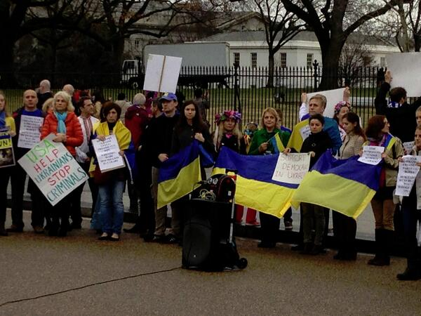 Demonstration in front of White House  to support EuroMaidan