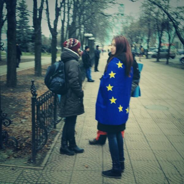 Euromaidan rally in Luhansk