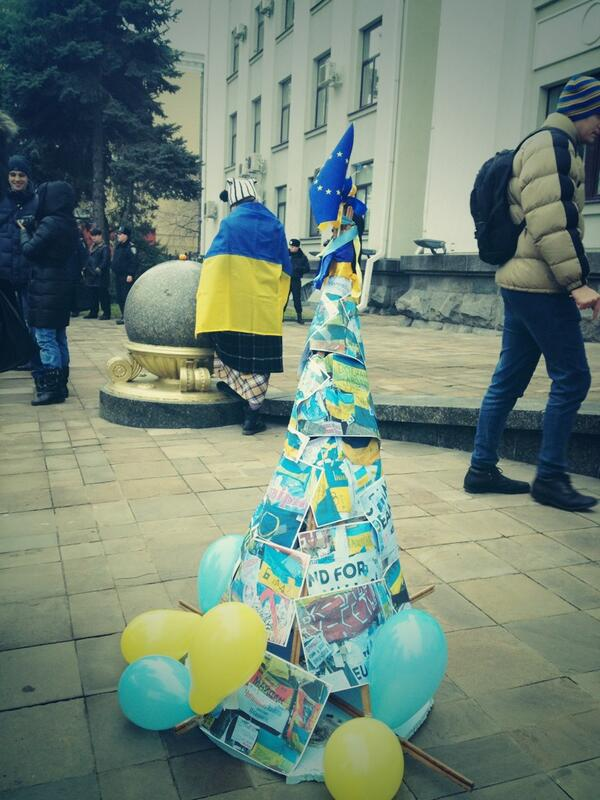 Euromaidan Tree in Luhansk