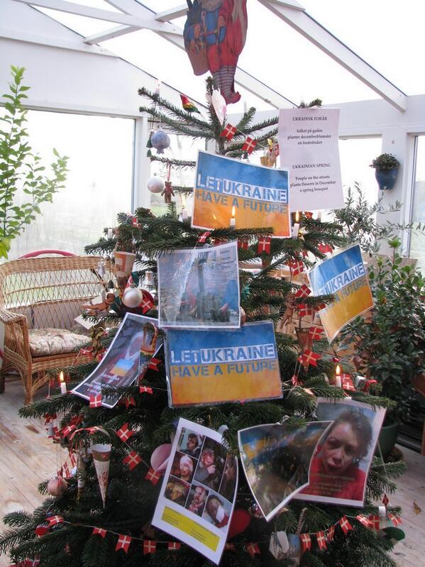 New Year in Denmark-Euromaidan tree