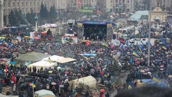 First euromaidan meeting in 2014