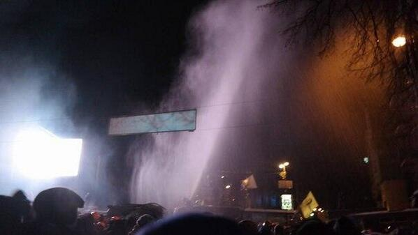Water cannon works. Very cold