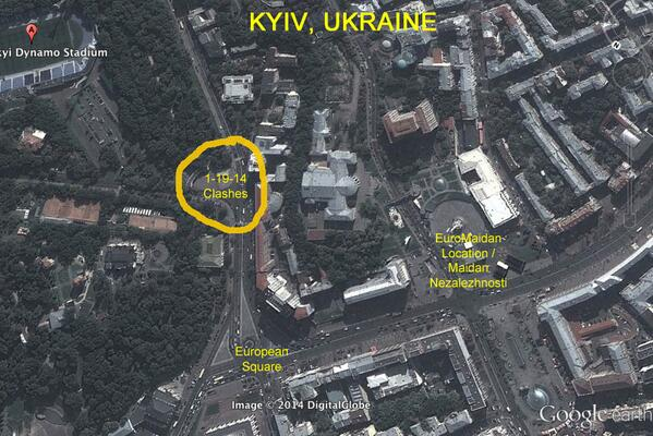 Clashes take part in very small area of Kyiv, majority of euromaidan protests remains peaceful