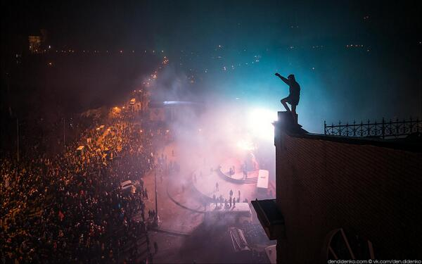 Photo: On the top of Kiev revolution