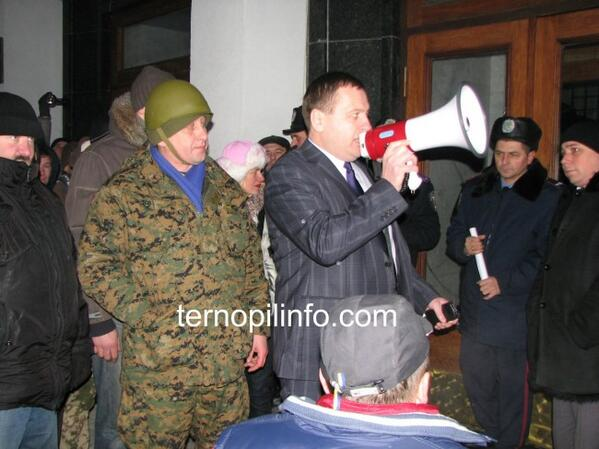 Ternopil State Administration captured by protesters