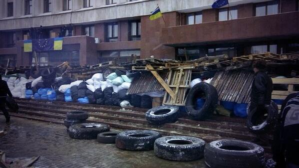 Barricades in Ivano-Frankivsk