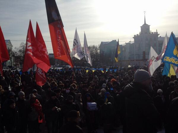 Big rally in Luhansk