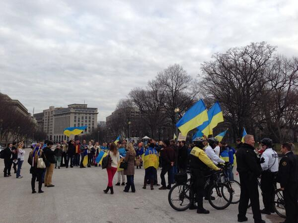 Rally in support of Ukraine in Washington, DC