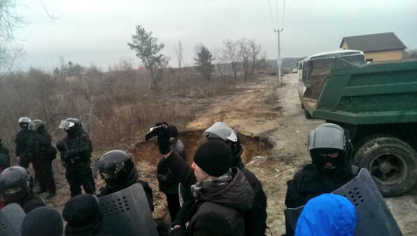 KAMAZ and anti-tank moat around house of General prosecutor