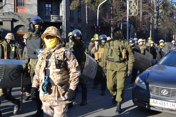 Riot police in full gear