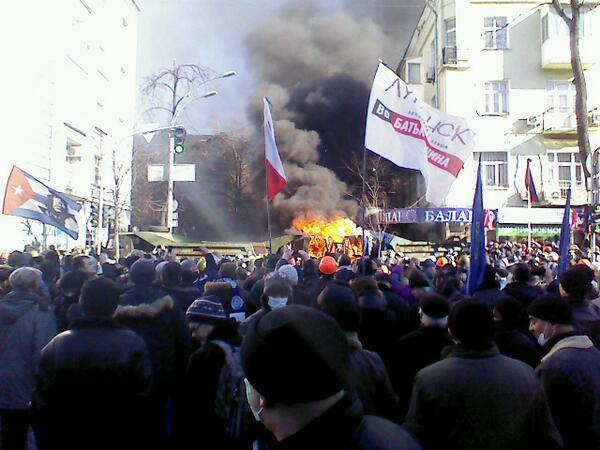 Kamaz is burning