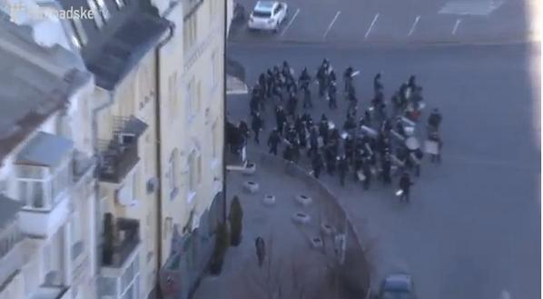 Berkut is gathering on Slavy square