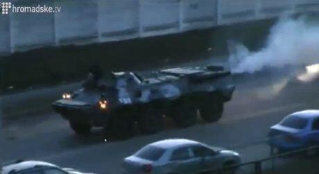 Police APC in Kyiv