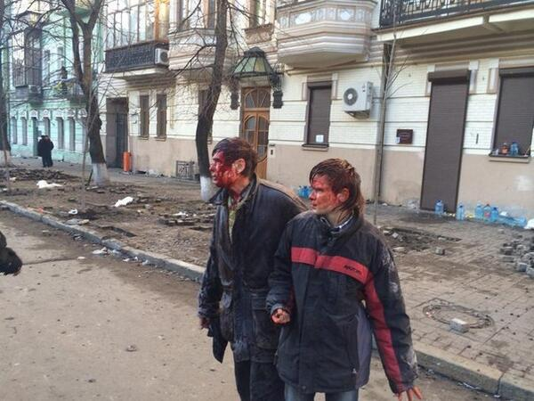 Son and father beaten by Berkut