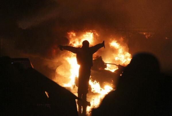 At Maidan now