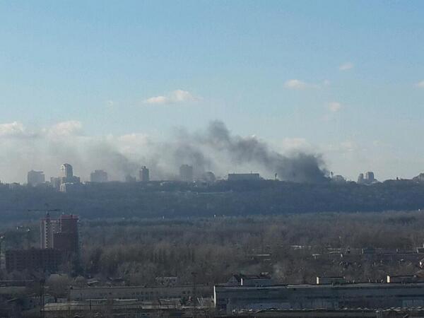 Burning Kyiv