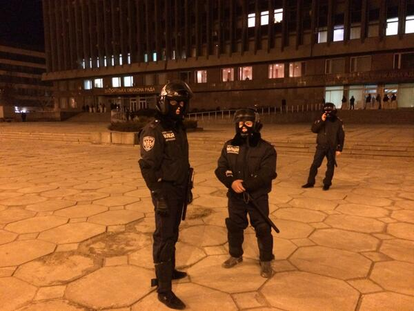 Police in Zaporizhie bulling at protesters