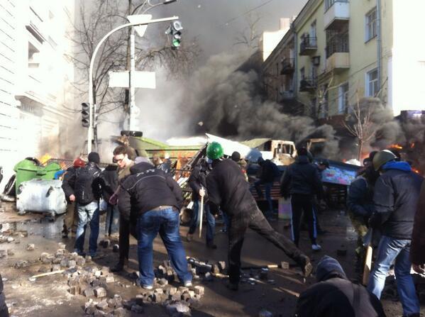 On Institutska street in Kyiv right now.