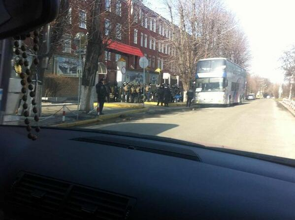Internal troops going from Dnipropetrovs'k to Kyiv
