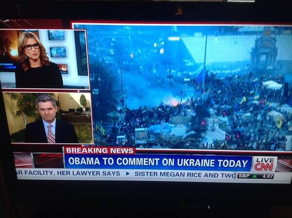 .@CNN says @BarackObama will comment today on unrest in Ukraine.