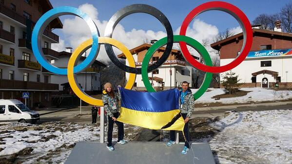 Ukrainian Olympians Oleg and Bogdan Matlock in solidarity with the Maidan refused to participate in the 2014 Olympics