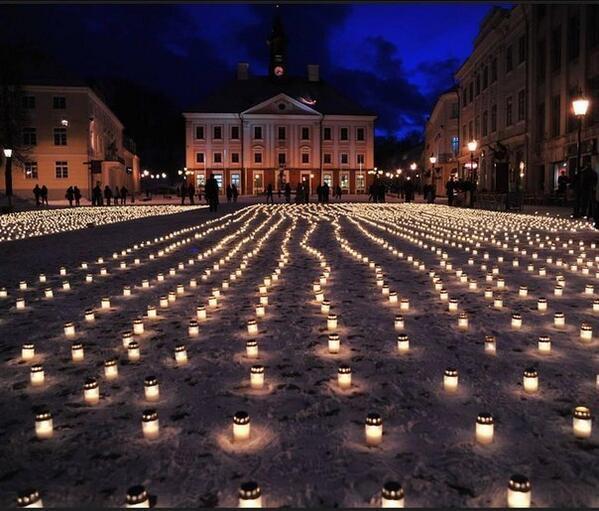 University of Tartu Estonia honour the dead Ukrainians