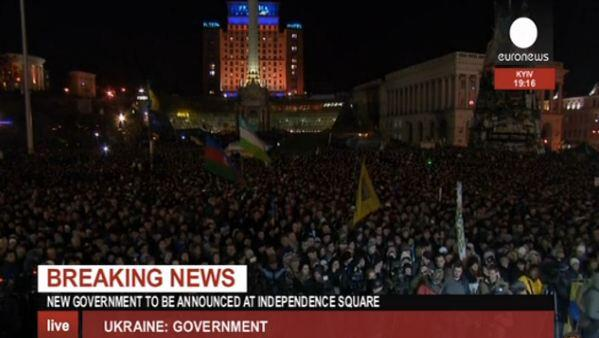 New Ukrainian government to be announced at Independence square