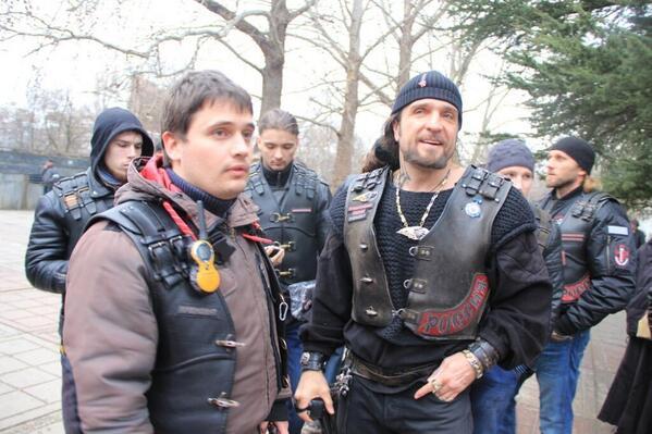 Putin's biker club Night Wolves came to Crimea