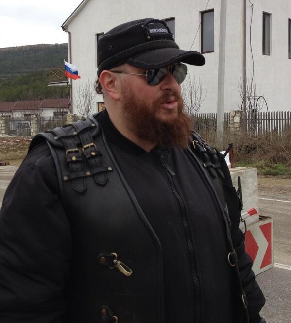 Russian bikers take lead at block posts in Crimea