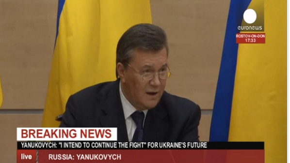 Yanukovych: I had a phone conversation w/Puntin after arriving to Russia and soon we'll have an opportunity t meet