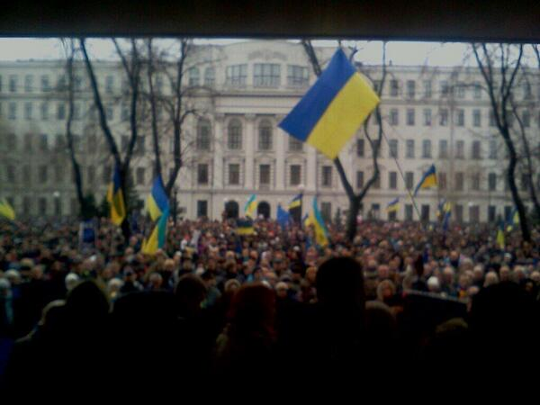 Big rally in Dnipropetrovsk against Putin's invasion
