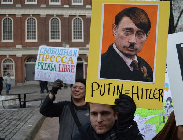 Boston joins the world in accusation of Putin, a new world's Hitler towards Ukraine