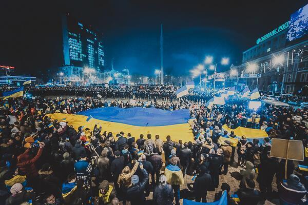 Big rally in Donetsk