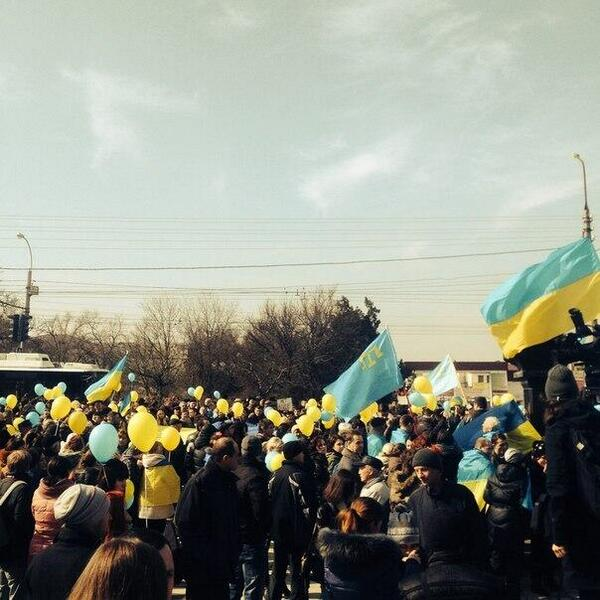 Rally in Simferopol