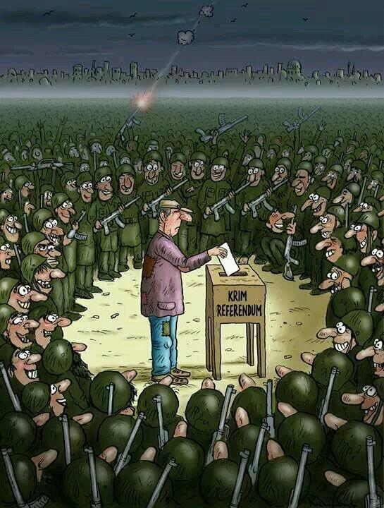 Cartoon on Crimea referendum