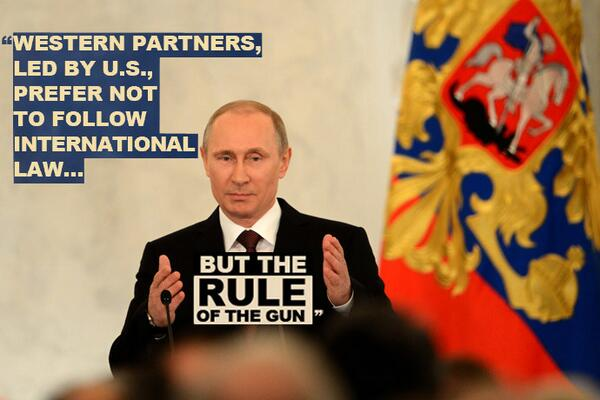 'Western partners prefer not to follow international law, but rule of gun' – Putin
