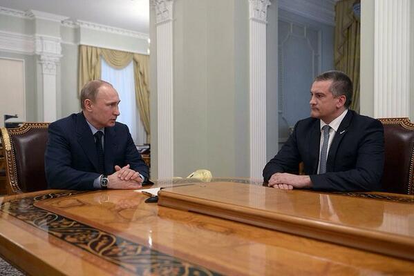 Putin met Sergey Axyonov