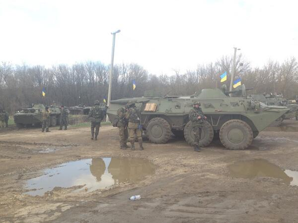 Ukrainian forces 45km North to Slovyansk