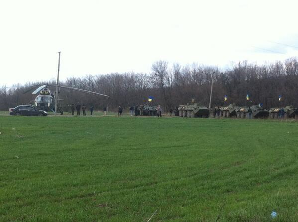 Ukrainian forces near Izium